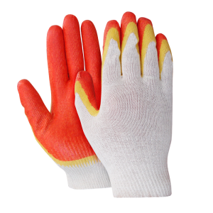 Перчатки х/б с двойным латексным обливом